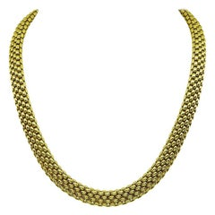 Fope Gold Mesh Necklace