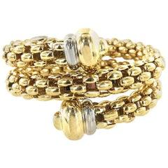Fope Italian 18 Karat Gold Woven Link Coil Bracelet