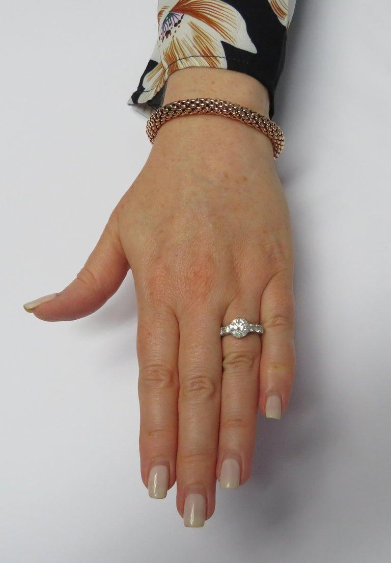 Modern Fope Italy Flex 'It 18 Karat Rose Gold Bangle Bracelet For Sale