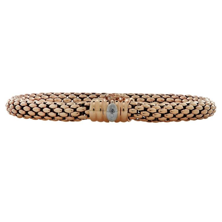 Fope Italy Flex 'It 18 Karat Rose Gold Bangle Bracelet In Good Condition For Sale In Miami, FL