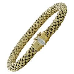 Fope Italy Flex 'It 18 Karat Yellow Gold Bangle Bracelet