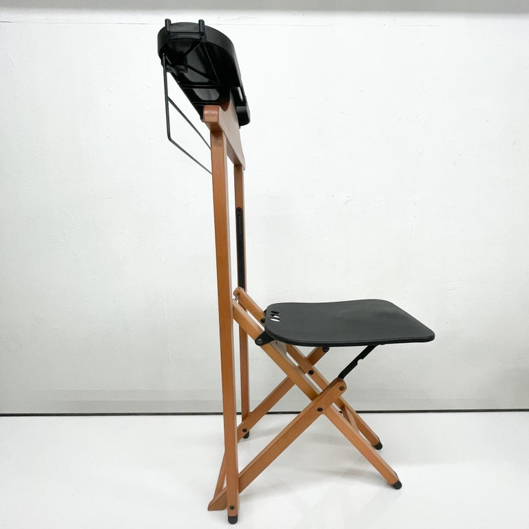 Late 20th Century Foppapedretti Suite Valet Stand Chair Italian Modern For Sale