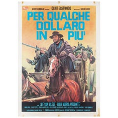 For a Few Dollars More R1970s Italian Due Fogli Film Poster
