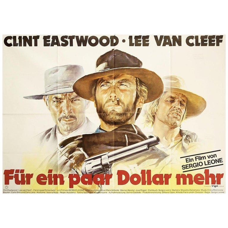 For a Few Dollars More R1980s German A0 Film Poster For Sale