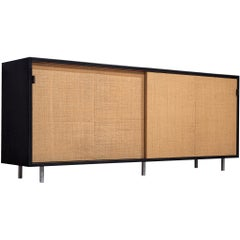 For Lucy: Early Florence Knoll Credenza with Cane Sliding Doors