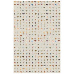 Forager Wallpaper in Stone by 17 Patterns