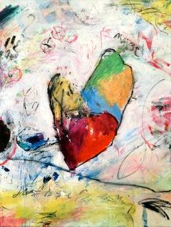 'Heartland' Mixed Media Expressive Abstract Painting