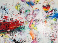 'Hydra' Mixed Media Abstract Expressionist Painting