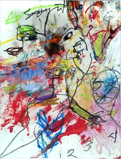SILVER HOLLOW #24 - colorful abstract painting on paper