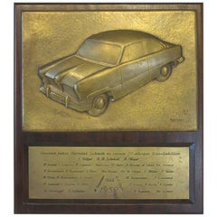 Ford Factory German Automotive Taunus Vintage Car Plaque Sculpture