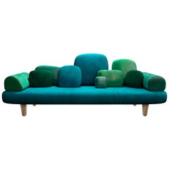 Forest 3-Seat Sofa with Plush Green Velvet by Marcantonio