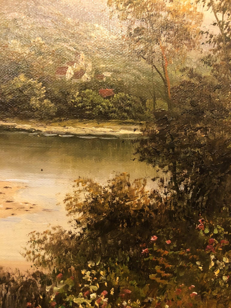 Forest Landscape Oil on Canvas Painting In Good Condition In Plainview, NY