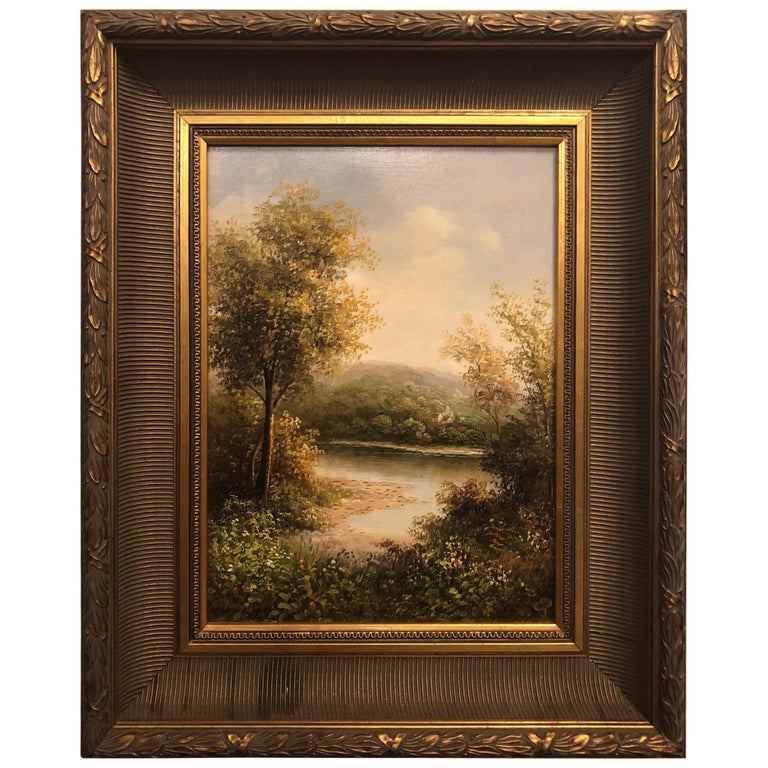 Forest Landscape Oil on Canvas Painting