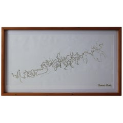 Forest Park Letter Pressed Map with Embossed Trails in Salvaged Fir Frame