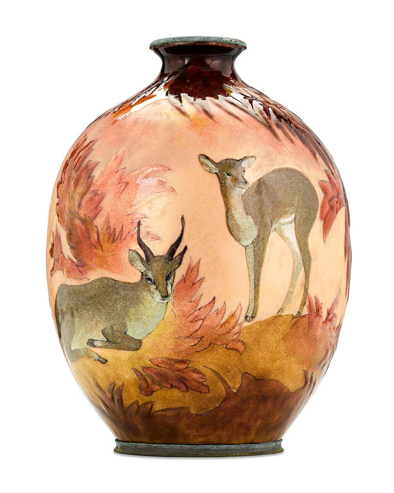 French Forest Vase by Camille Fauré