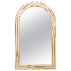 Forest Wall Console Mirror with Brass Inlay by Marcantonio
