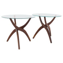 Forest Wilson Mid Century Side End Tables, a Pair