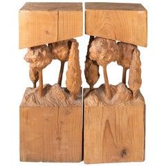 """Foresta"" Cedar Sculpture by Santo Cinalli, Italy"