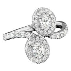 Forever Us Oval Diamond Ring in 18 Karat White Gold