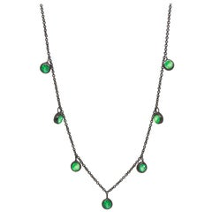 Forged Emerald Silver Necklace/NOXS