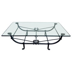 Forged Iron Coffee Table in the Style of Giacometti