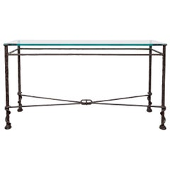 Forged Iron Console Table after Diego Giacometti
