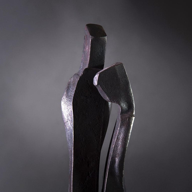 Modern Forged Sculpture 'Encounter', Family Series by German Blacksmith H. Zimmermann For Sale
