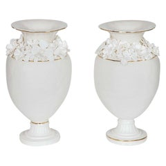 Forget Me Not Footed Vases in Porcelain & gold, Floral Artworks by Amy Hughes