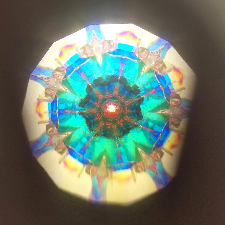 Forget Me Not Kaleidoscope Necklace, Handcrafted in USA In New Condition For Sale In Logan, UT
