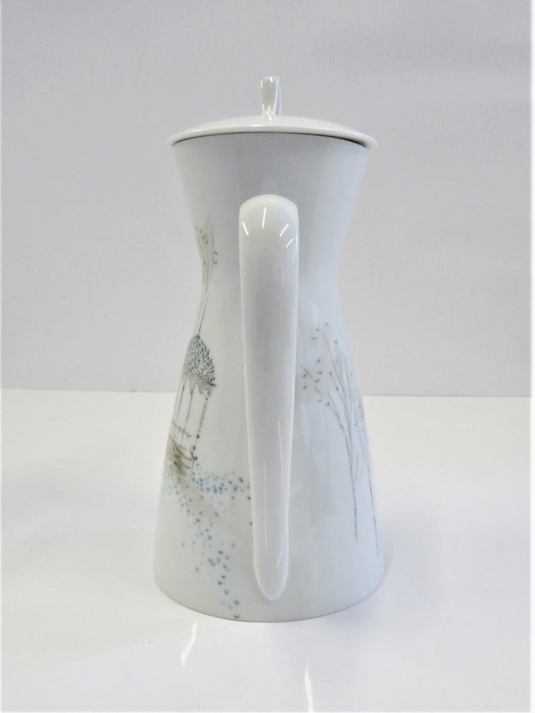 Mid-Century Modern Form 2000 Rendezvous Pattern Coffee Pot, Raymond Loewy Rosenthal Germany, 1960s For Sale