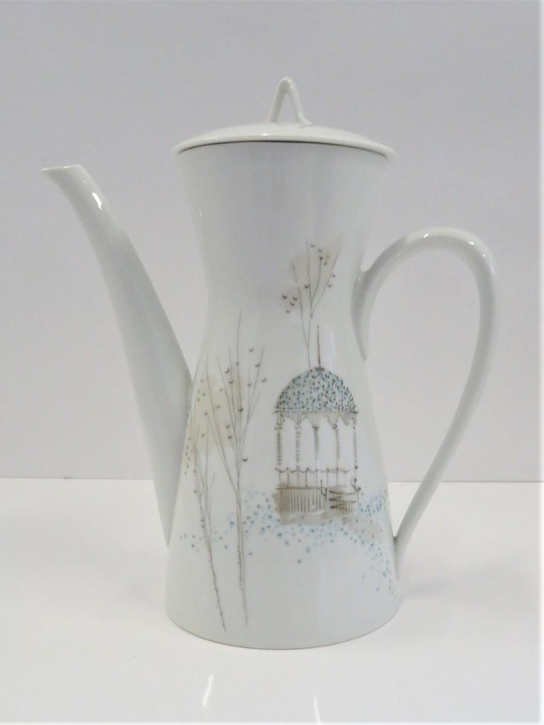 Form 2000 Rendezvous Pattern Coffee Pot, Raymond Loewy Rosenthal Germany, 1960s For Sale 3