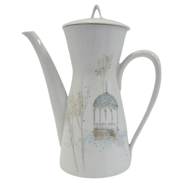 Form 2000 Rendezvous Pattern Coffee Pot, Raymond Loewy Rosenthal Germany, 1960s For Sale
