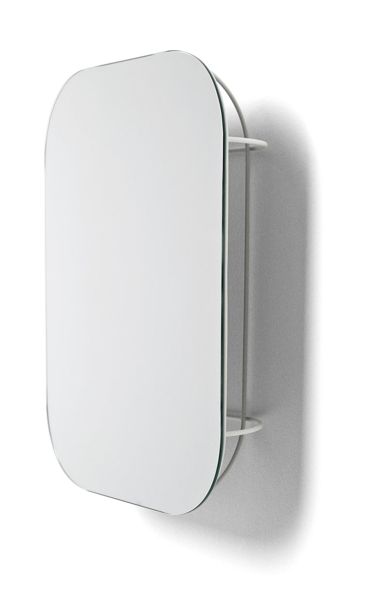 Form Us With Love, Cage Wall Mirror, White 2