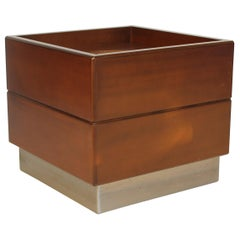 Forma Nova 1978 Rosewood and Metal Planter