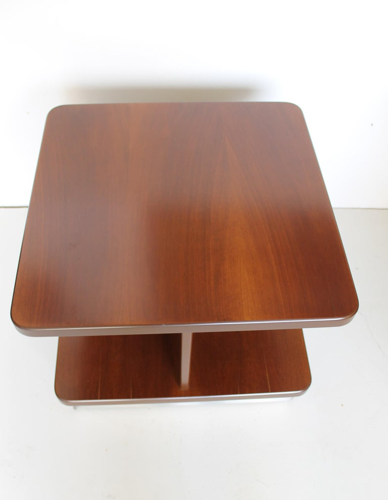Mid-Century Rosewood Italian Coffee or Sofas Table with Wheels by Formanova 70s. For Sale 2