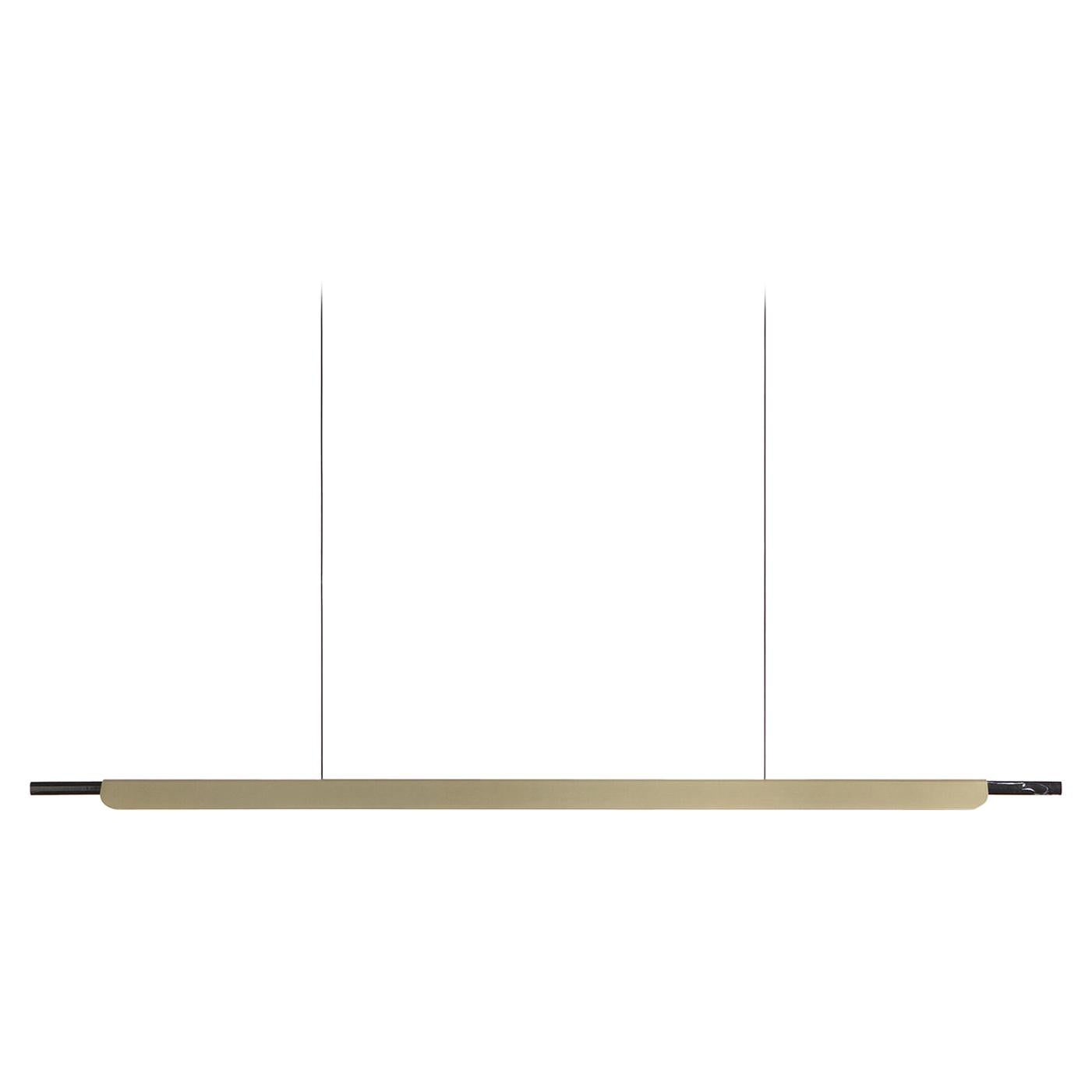 Formation Linear Pendant LED Aluminum Marble Fixture, Brushed Gold