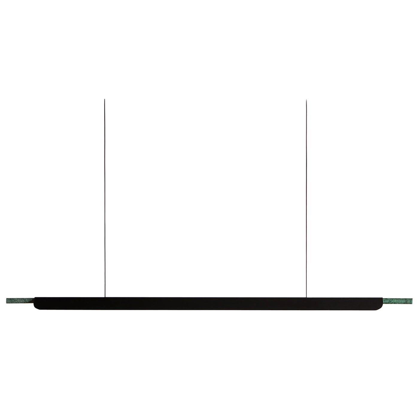 Formation Linear Pendant LED Aluminum Marble Fixture, Matte Black