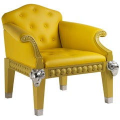 Formidable Beast Armchair in Yellow Lacquered Finish