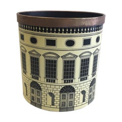 Fornasetti 1950s Waste Basket/ Trash Can