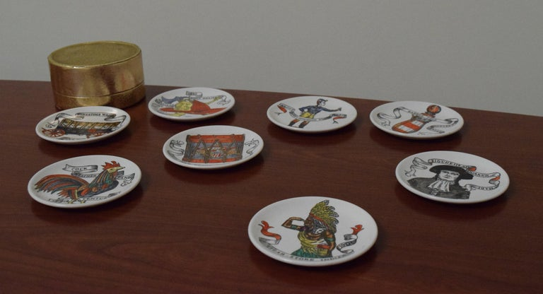 Fornasetti American Antiques Coasters For Sale 3
