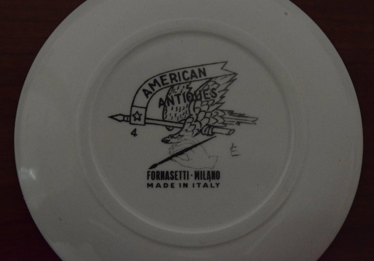 Fornasetti American Antiques Coasters For Sale 4
