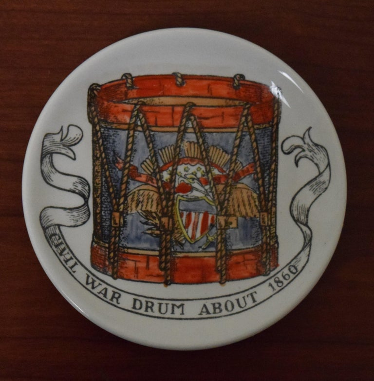 Mid-20th Century Fornasetti American Antiques Coasters For Sale