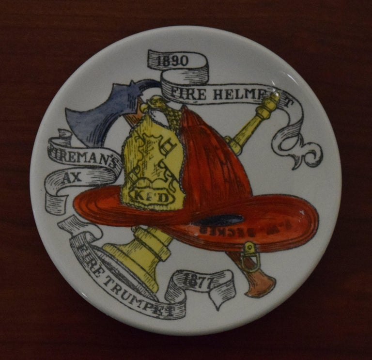 Porcelain Fornasetti American Antiques Coasters For Sale