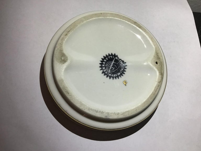 Fornasetti Ashtray Porcelain 1950 Italy For Sale 4