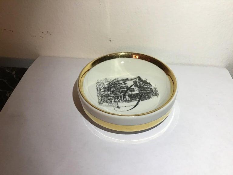 Fornasetti Ashtray Porcelain 1950 Italy For Sale 5