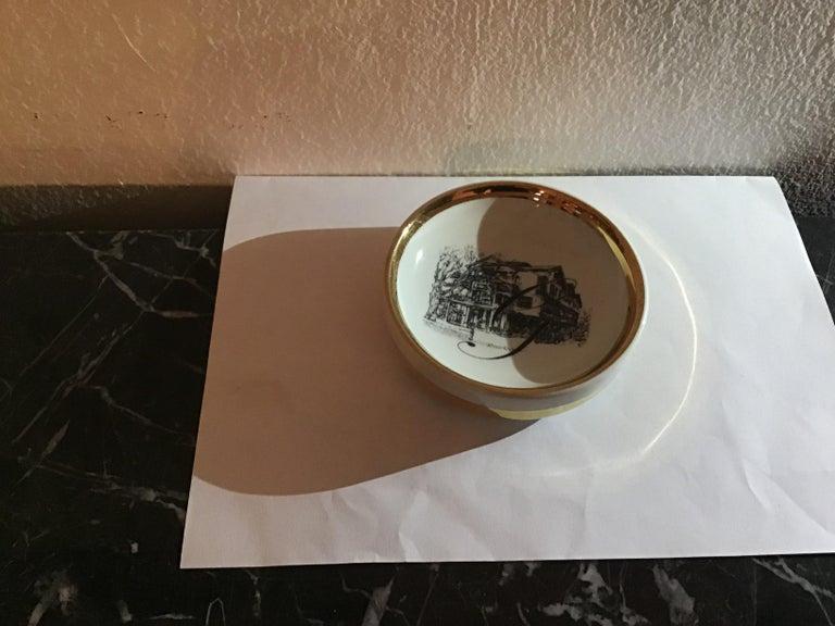 Fornasetti ashtray porcelain 1950 Italy.