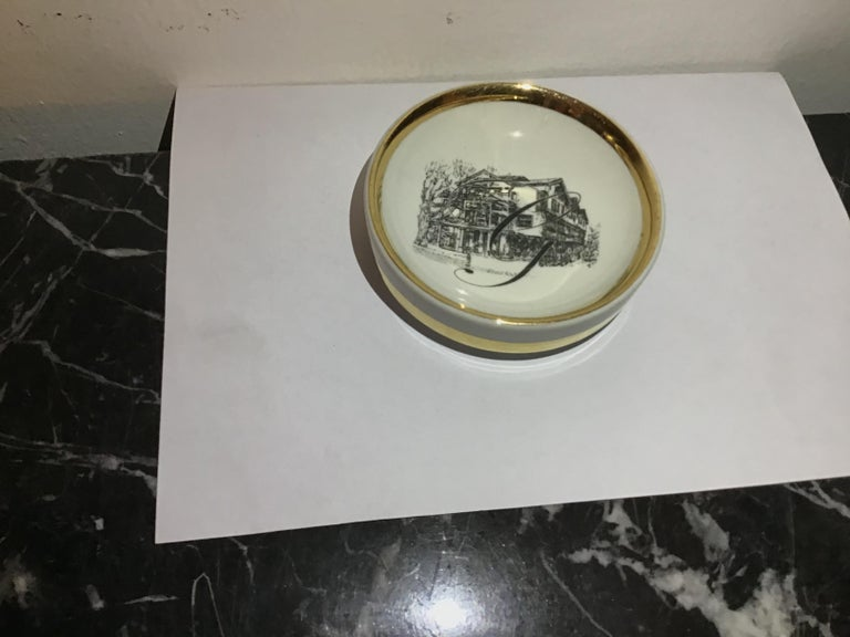 Other Fornasetti Ashtray Porcelain 1950 Italy For Sale