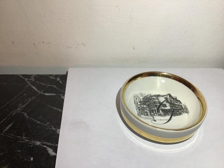Fornasetti Ashtray Porcelain 1950 Italy In Excellent Condition For Sale In Milano, IT