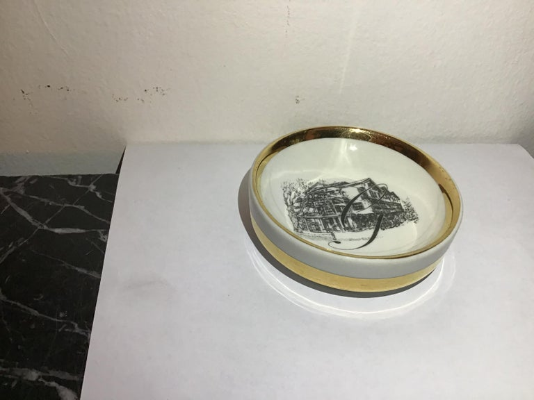 Mid-20th Century Fornasetti Ashtray Porcelain 1950 Italy For Sale