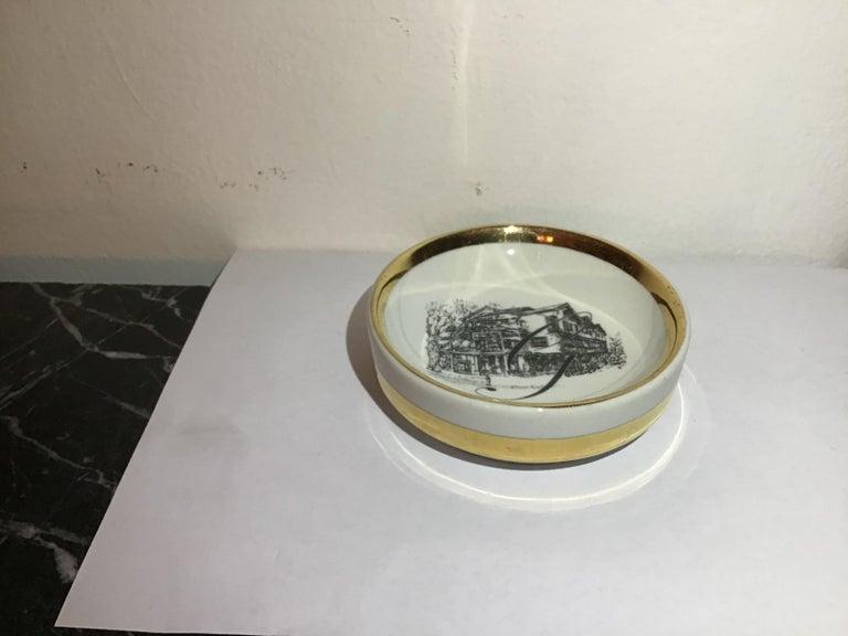 Fornasetti Ashtray Porcelain 1950 Italy For Sale 1